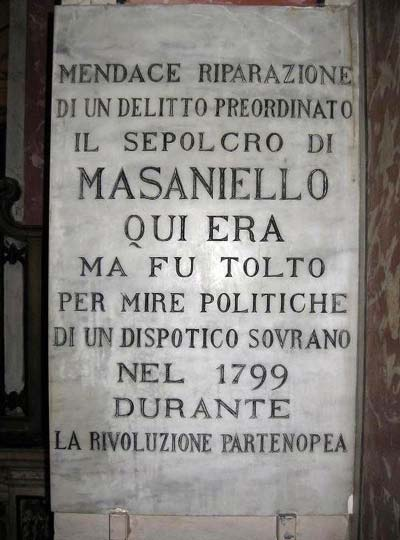 sepolcro di Masaniello