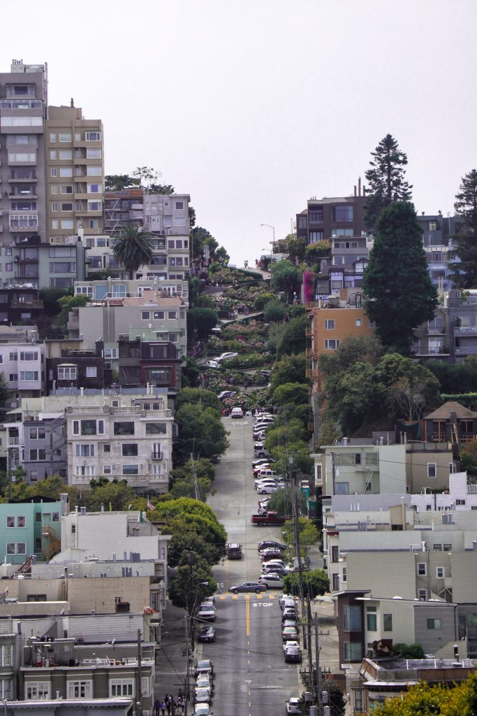 lombard street california on the road
