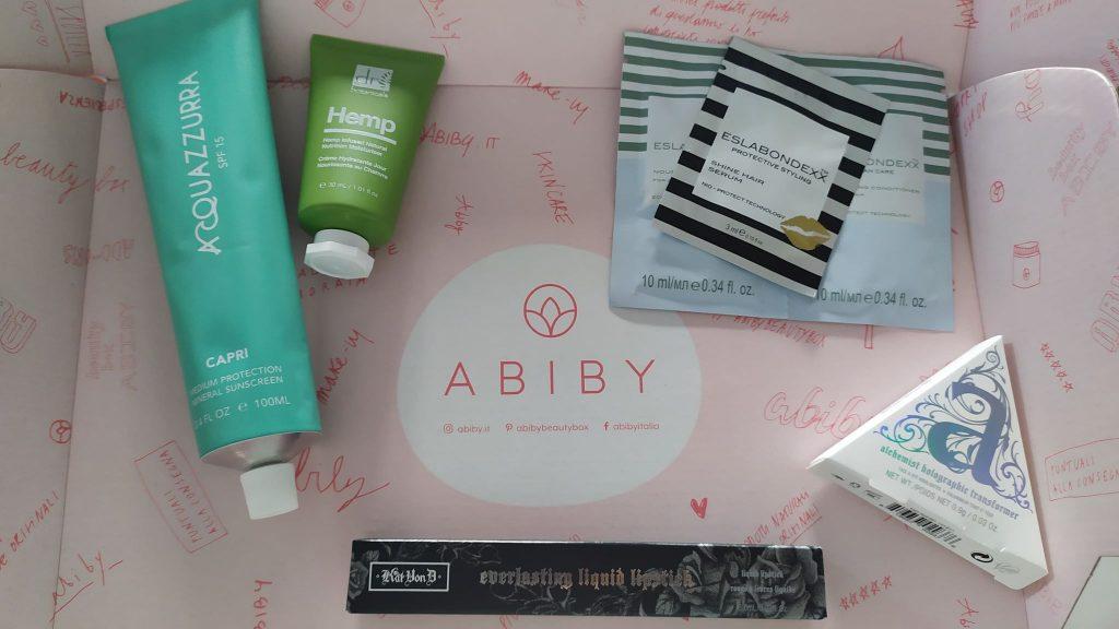 Beauty travel kit - box Abiby