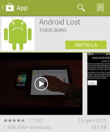 antifurto android app