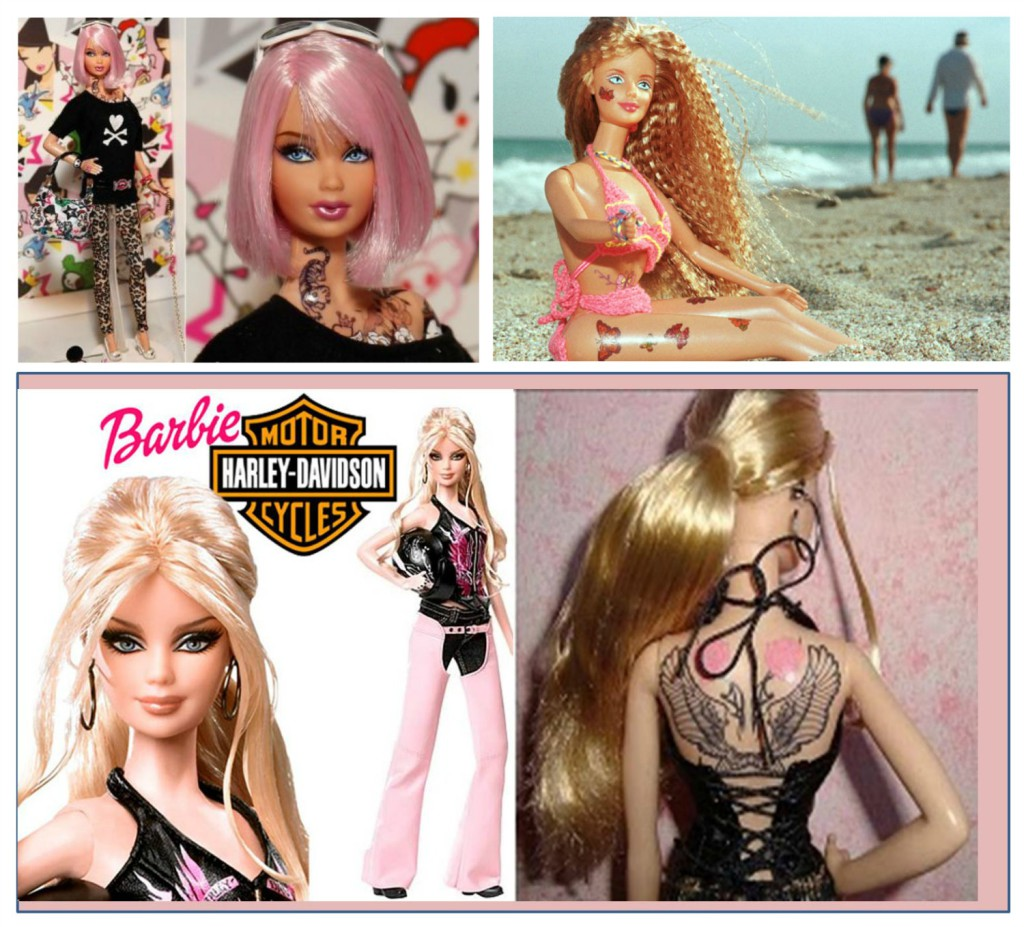 barbie tattoo - Barbie girl outfit