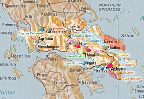 cartina oracolo di Delfi