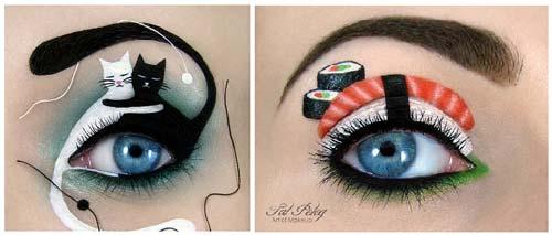 eyelid art cat