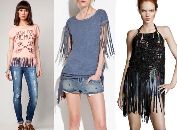 reinventare vestiti con le frange
