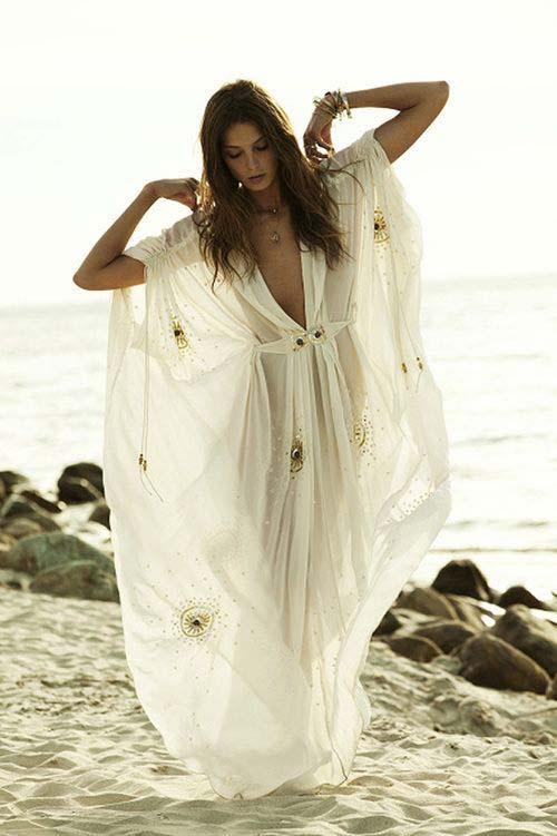 essere perfetta in spiaggia maxi dress