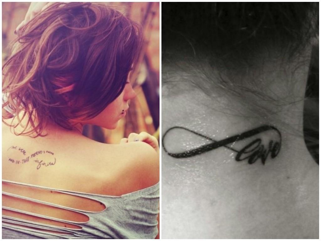 tatuaggi più alla moda simbolo infinito
