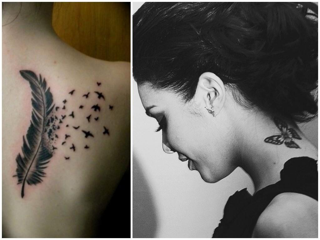 tatuaggi più alla moda piuma