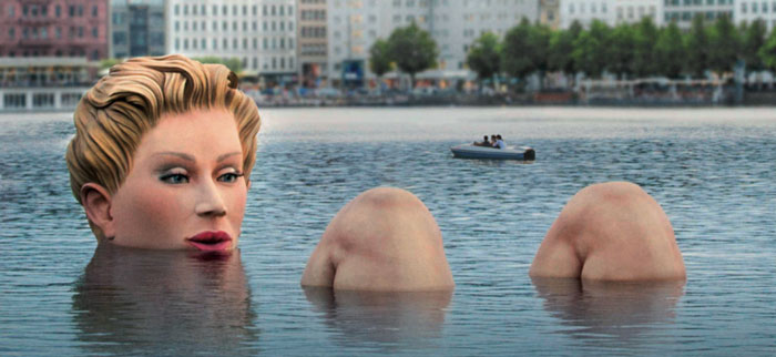 la bagnante amburgo - sculture moderne germania