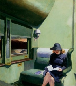 leggere treno - E. Hopper