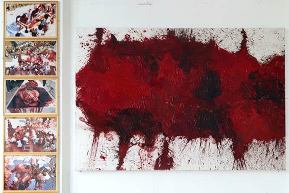 Hermann Nitsch quadro