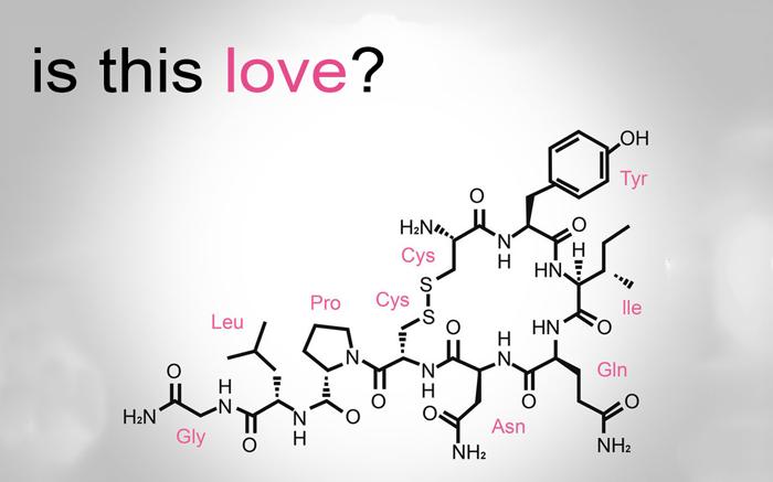 formula chimica dell'amore