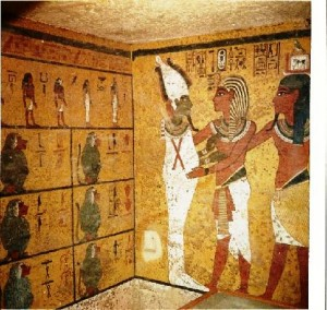 pitture parietali camera funeraria tutankhamon