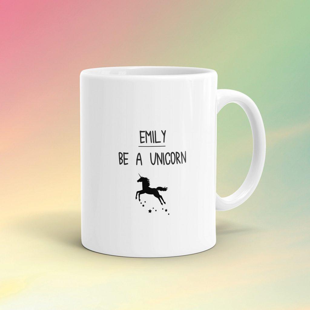 regali personalizzati be a unicorn mug