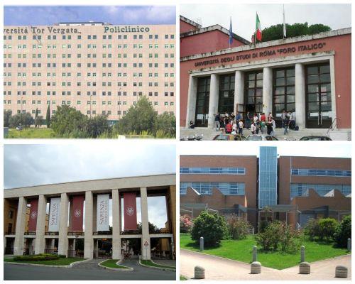 scelta delle università di roma