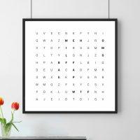 poster parole lettering regli personalizzati